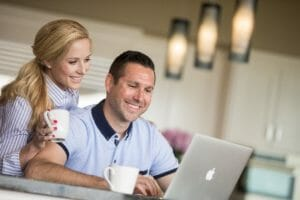 Young couple researching SMILE Eye Surgery